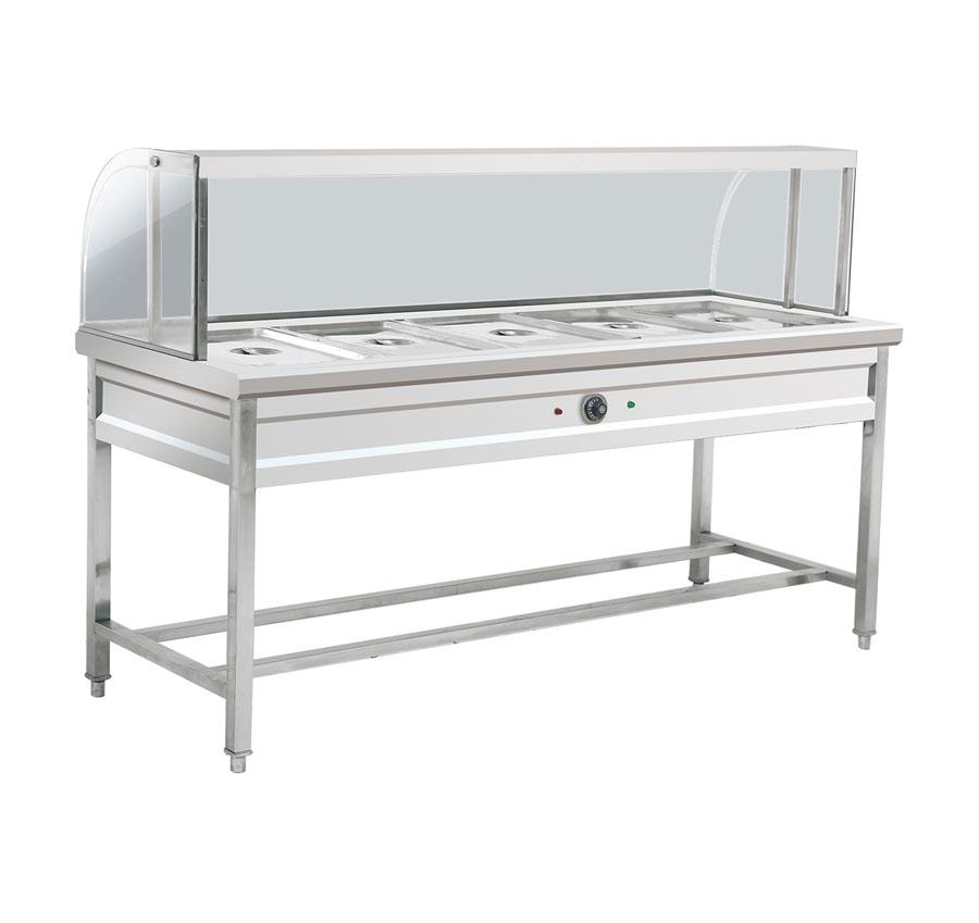 玻璃罩五格保温菜台